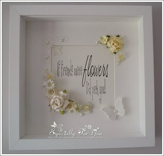 Beautiful OOAK Shadow Box Framed Picture