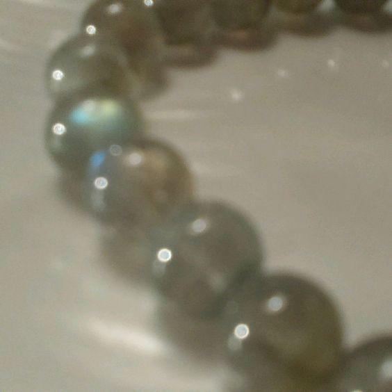 Men's Beaded Handmade Bracelet 7mm+Labradorite Silver 900 8.5 ' #Handmade…