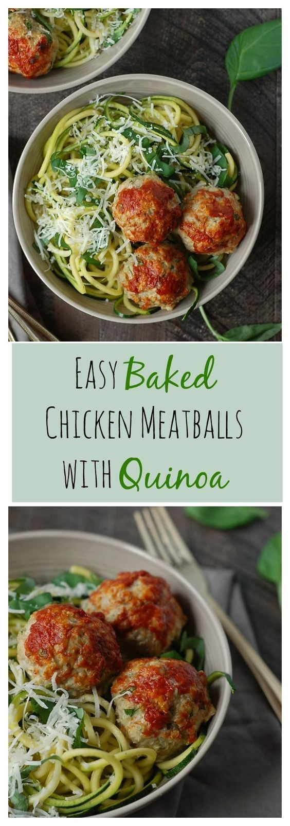 Easy Baked Chicken Meatballs With Quinoa