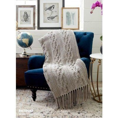 Crochet Cablework Blanket Croceht Free Pattern