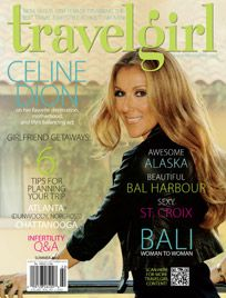 Celine Dion on the cover of Travelgirl Magazine
