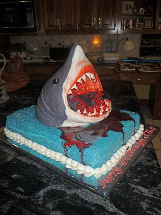 Shark Cake Hahahaha Maybe I Ll Do This With The Blood And