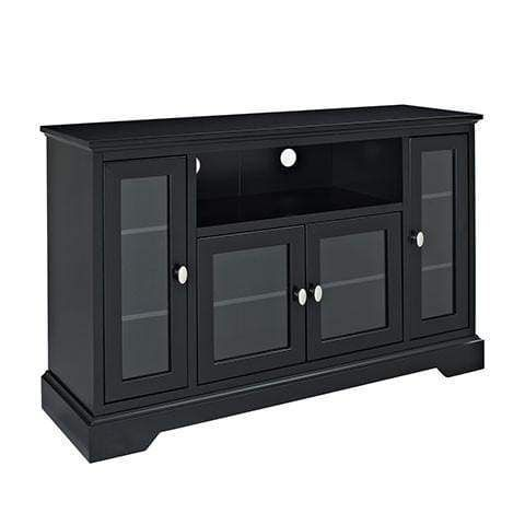 Wood Tv Stand For Up To 58 Flat Screen Black By Walker Edison In 2020 Highboy Tv Stand Tv Stand Console Tv Media Stands