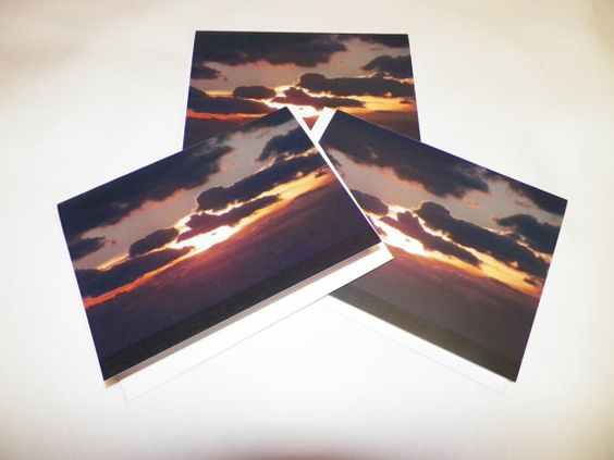 Sunrise at Pompano Beach Note Cards by ArtForComfort on Etsy, $10.00