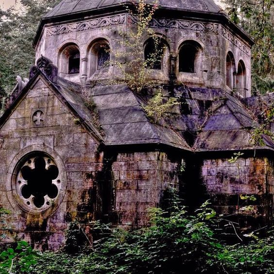 Abandoned German church being overtaken by growth. by itsabandoned