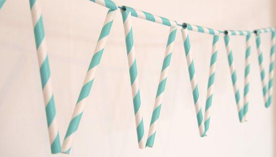 Maak zelf deze slinger van rietjes. Met stap voor stap uitleg!  ©Papiergoed
