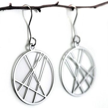 My design inspiration: Round Criss-Cross Earrings on Fab.