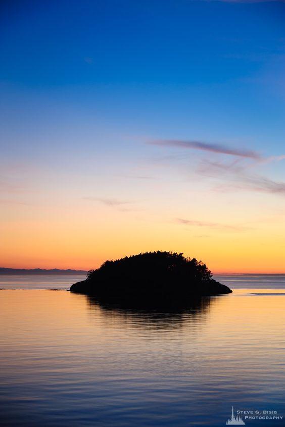 August Sunset, Deception Island, Deception Pass State Park, Washington, 2016   #landscape #nature #photography #art #prints #wallart