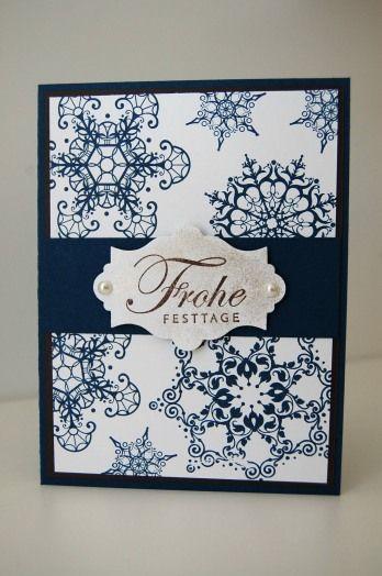 Snowflake Soiree in Mitternachtsblau