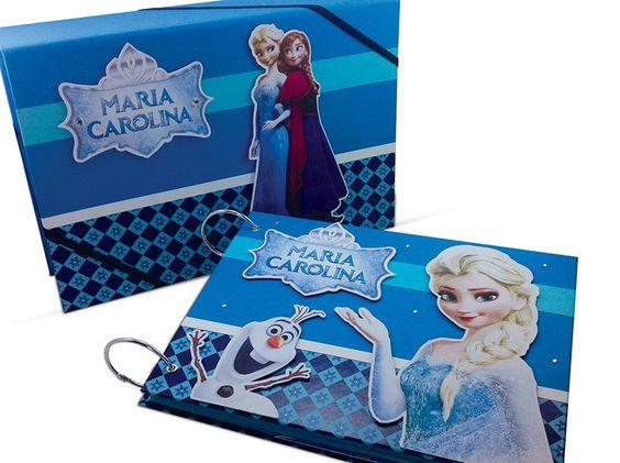 Álbum Com Caixa Frozen | Vertente Gifts | Elo7