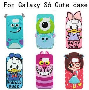 Samsung Galaxy S6 Cases 3d Cartoon Silicon Phone Case Cover