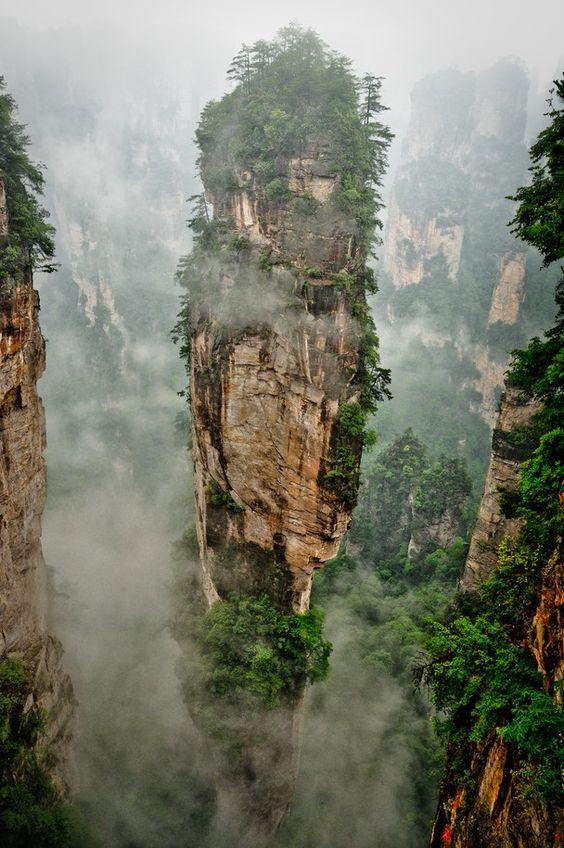 Zhangjiajie Nemzeti Erdő Park, Kína
