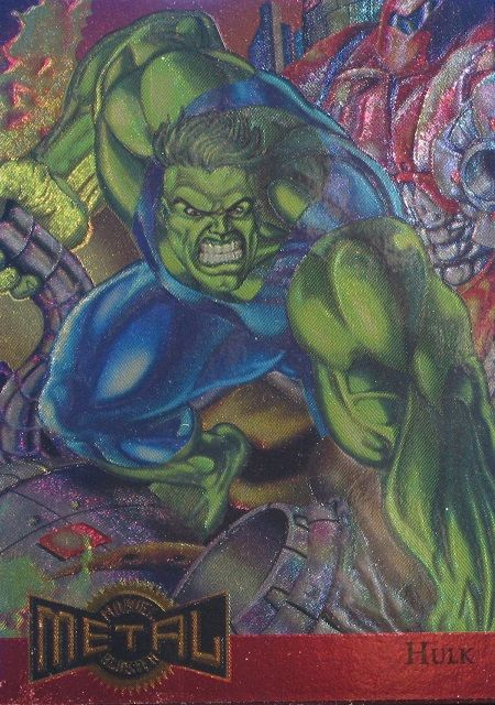 Hulk 1995 Marvel Metal Blaster Card Number #5 of 10
