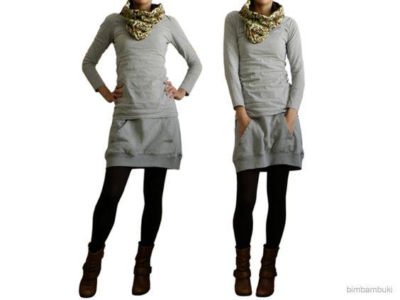 upcycled sweatshirt skirt bimbambuki sew myself a new wardrobe pinterest r cke. Black Bedroom Furniture Sets. Home Design Ideas