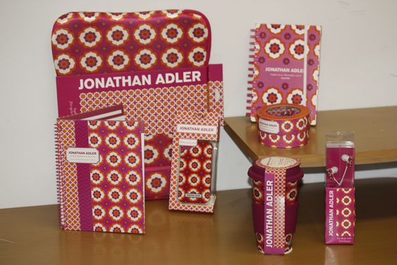 Have a festive desk with the Jonathan Adler Retro Floral Collection!