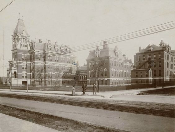 Cook County Hospital, 1900 W Harrison, 1882, Chicago