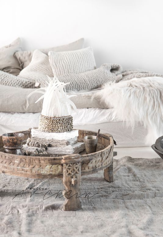 White // Textures // Wood // Fabrics - Lived in - comfort, inviting. …