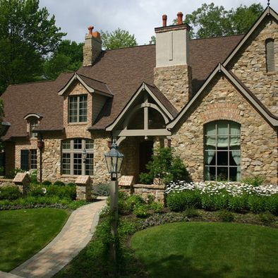 Exterior house colors with brown roof design pictures - Country style exterior house colors ...