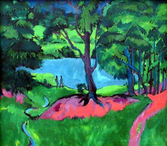 """Ernst Ludwig Kirchner """"Bohemian Lake"""" 1911"""
