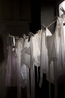 Hanging clothes - another black and white frame
