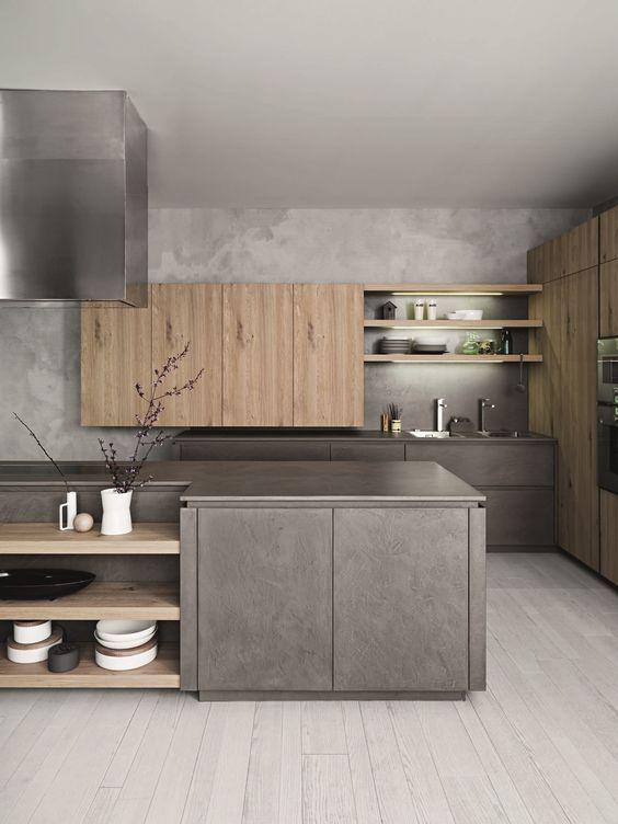 Love This Minimalist Natural Wood Grain Look Get It In Your Kitchen Thanks To Rauvisio Terra Http Na Modern Kitchen Design Kitchen Fittings Modern Kitchen
