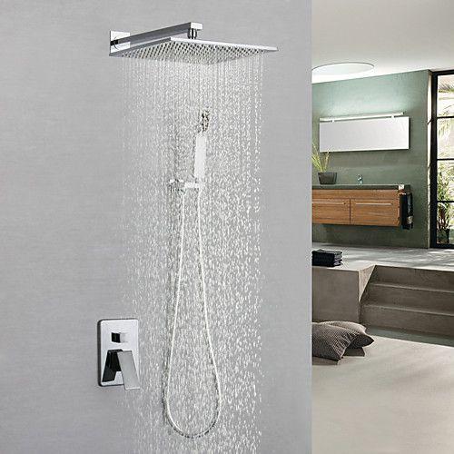 Shower Faucet Bathroom Sink Faucet Contemporary Chrome Wall
