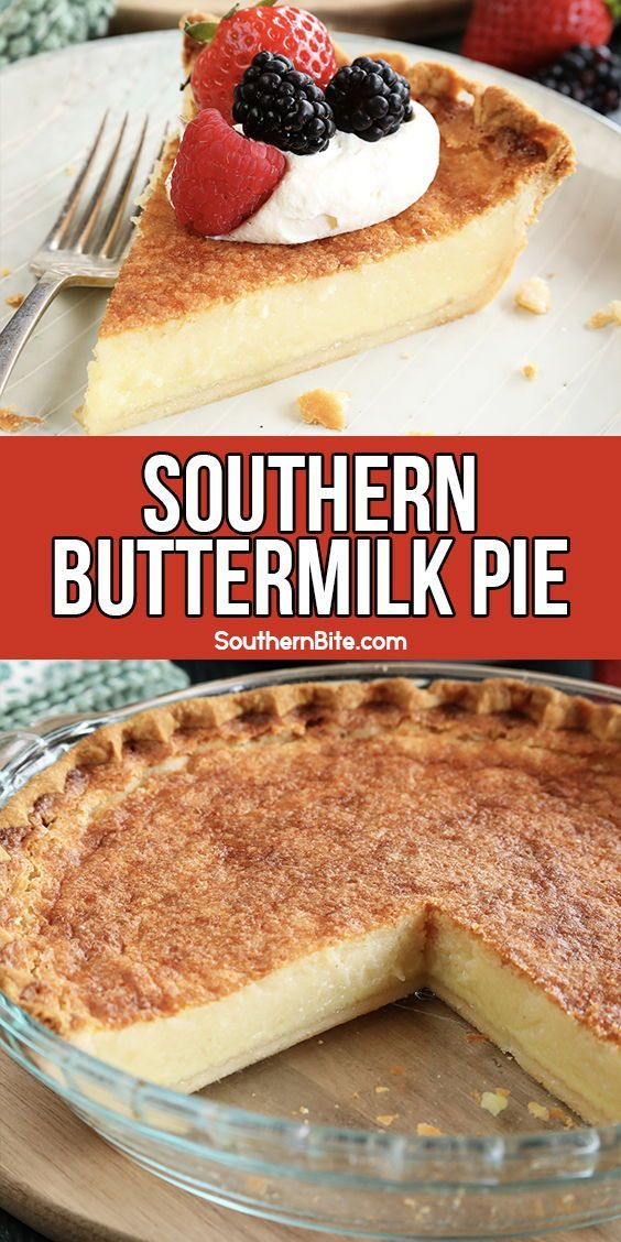 Southern Buttermilk Pie In 2020 Easy Pie Recipes Southern Buttermilk Pie Southern Desserts