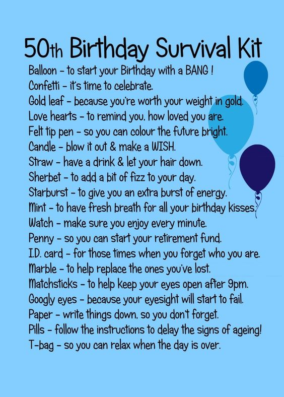 50TH BIRTHDAY SURVIVAL KIT BLUE: Amazon.co.uk: Kitchen & Home