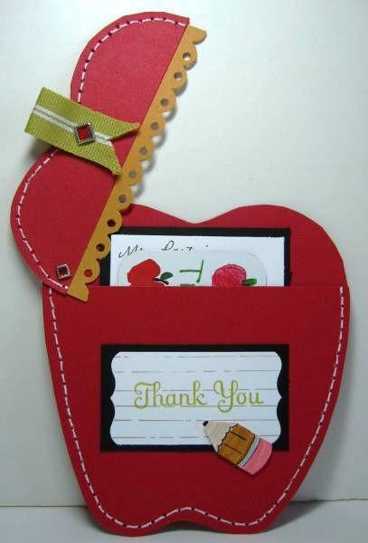 Apple Teacher Gift Card Holder