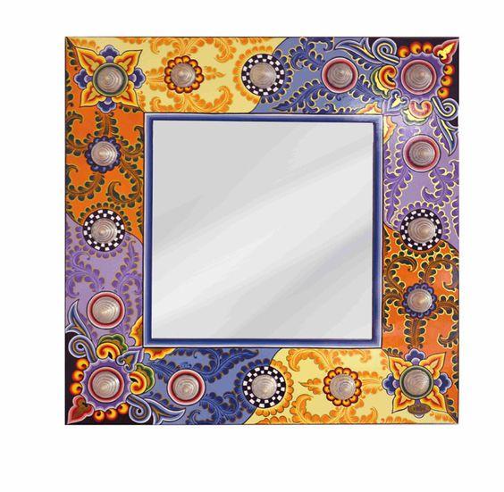 Muschelspiegel  - aus der Mirrors Collection Artikelnummer:  102136 Maße:                 89 x 89 cm Material:             Holz MDFrodukt rings-furniture.com
