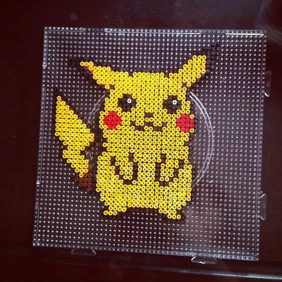 pikachu pokemon perler beads by dorothy wow okreation pinterest pikachu ps und perlen. Black Bedroom Furniture Sets. Home Design Ideas
