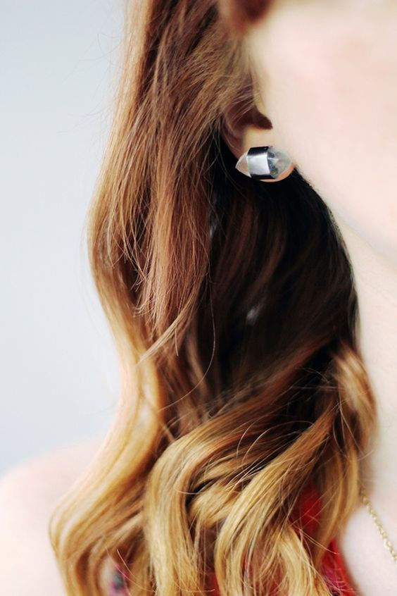 These industrial stud earrings are super easy to make.