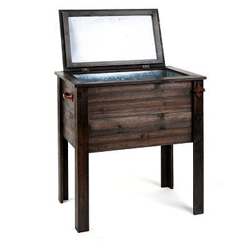 Kirkland's: Standing Wooden Cooler...I HAVE to have this!!!!