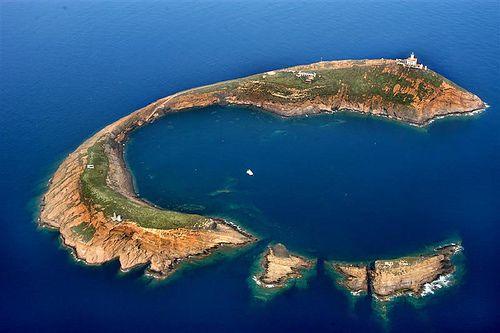 Columbretes island, Castellon, Spain.