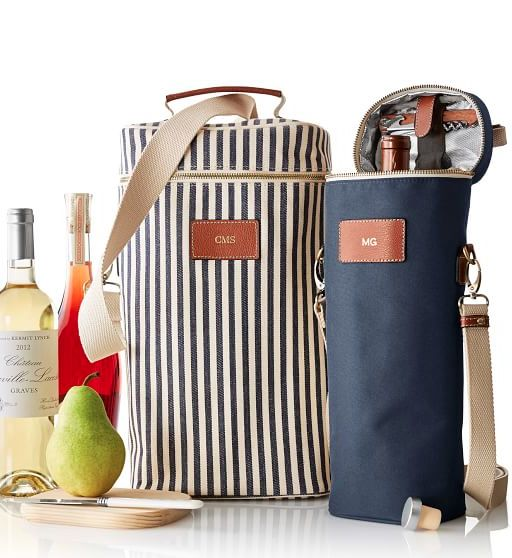 single and double insulated wine totes