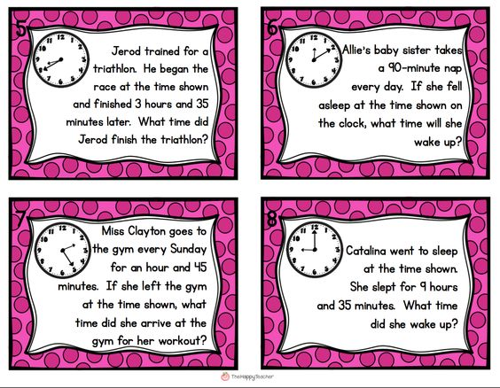 Elapsed Time Task Cards. Get students up and moving with these ...