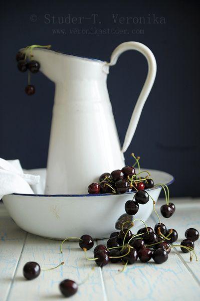 Cherries & Pitcher by Veronika Studer