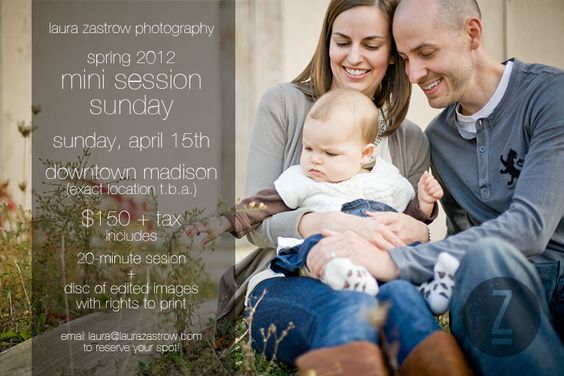 Mini session Sunday for family photos! (by Madison wedding photographer Laura Zastrow.)