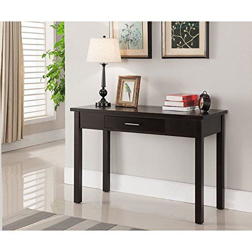 Writing Desks Contemporary Modern Black Wood Desk With One