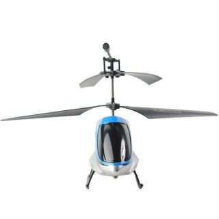 Blue Digital Proportional 2.5 Channel Alloy RC Helicopter Model