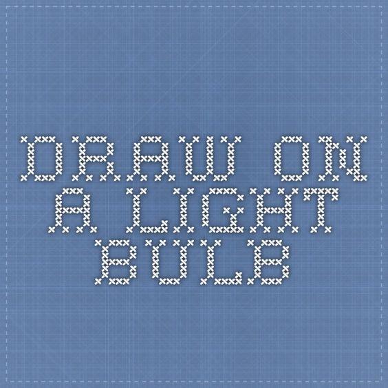 Draw On A Light Bulb