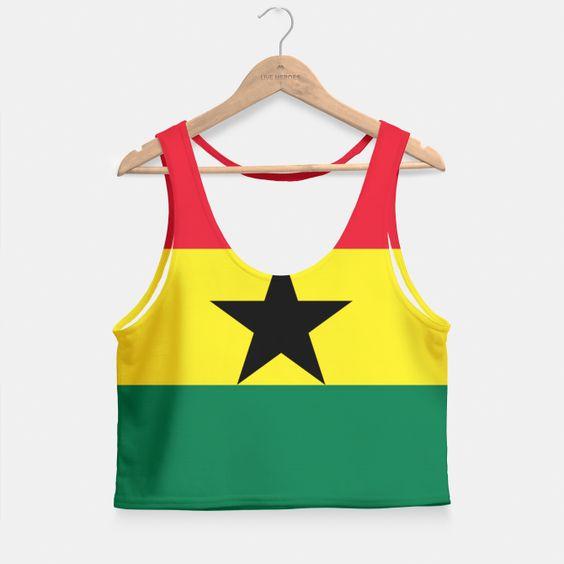GHANA (FLAG) Crop Top