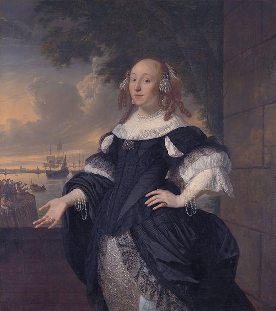 Bartholomeus van der Helst (1613–1670) and Ludolf Bakhuizen (1631–1708)  Title  Portrait of Geertruida den Dubbelde (1647-1684) Description   Geertruida den Dubbelde, wife of lieutenant admiral Aert van Nes. Pendant of File:Aert van Nes (1626-93), luitenant-admiraal, by Bartholomeus van der Helst.jpg Date  1668 Medium  oil on canvas Dimensions  Height: 139 cm (54.7 in). Width: 125 cm (49.2 in). Current location   Rijksmuseum Amsterdam