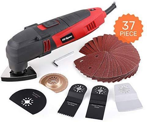 300W Oscillating Multi Function Tool Kit Sander Cutter Multitool and Accessories