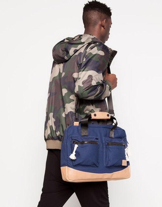 Pull&Bear - homme - sacs et portefeuilles -  - bleu marine - 05821507-V2014 #Pull&Bear 29,99€