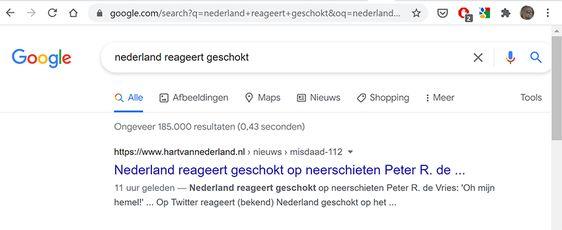 Peter R De Vries neergeschoten!?
