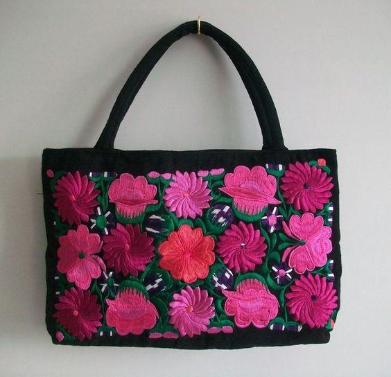 Ethno - Blumen Tasche -  Boho von Época  Galerie auf DaWanda.com