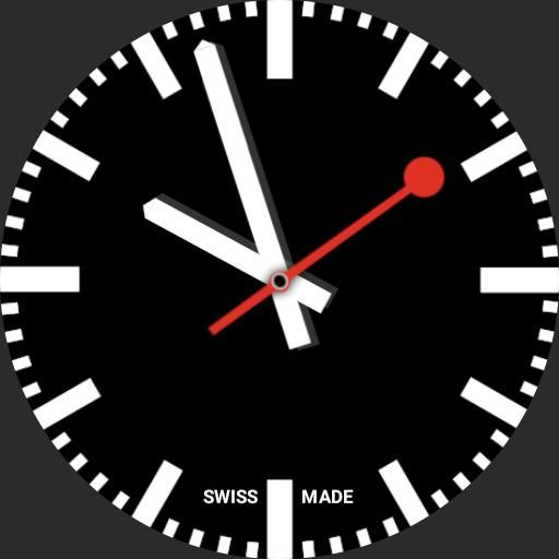 Swiss Railway Clock With Stop And Go Watch Face Preview Apple