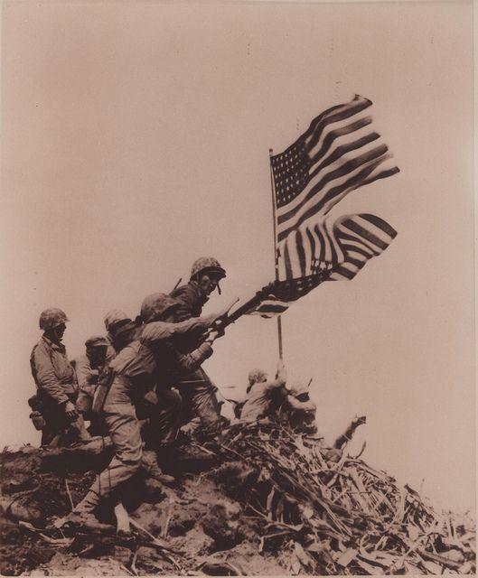raising the flag d-day v-day