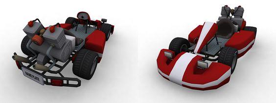 Kart model for 'VR Karts', Occulous Rift